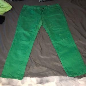 Pants - Green skinny ankle pants